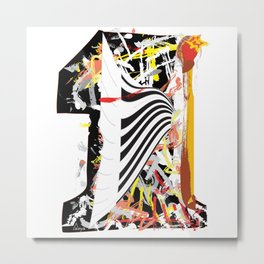 The first piano spark Metal Print