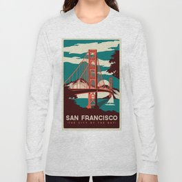 vintage poster san francisco Long Sleeve T-shirt