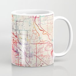 Grand Rapids map Michigan painting Coffee Mug