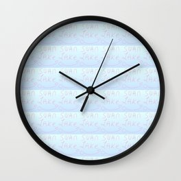 swan lake-dance,tchaikovsky,ballet,petipa,romance,romantic,chica Wall Clock