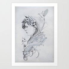 Hooded Art Print