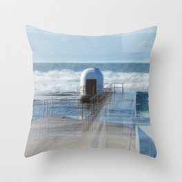 Merewether baths pumphouse Throw Pillow