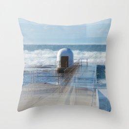 Merewether baths pumphouse Throw Pillow