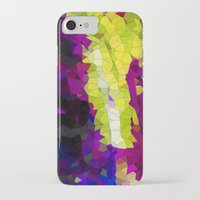 lime green iPhone & iPod Cases featuring purple & lime green abstract by Hannah