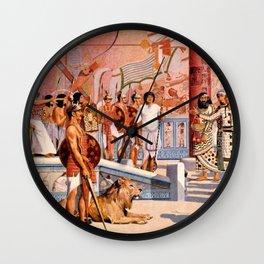 "Classical Masterpiece ""Egyptian Ramesses II Throne Room"" by Herbert Herget Wall Clock"