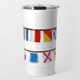 St Thomas Nautical Flags Travel Mug