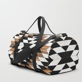 Urban Tribal Pattern No.13 - Aztec - Concrete and Wood Duffle Bag