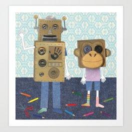 cardboard boxes. Art Print