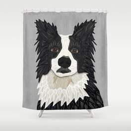 Beautiful Border Collie Shower Curtain