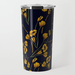 Cats in Flowers Travel Mug