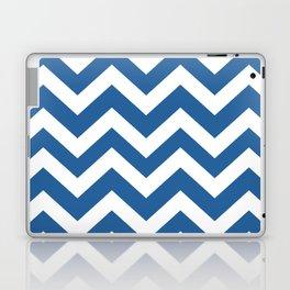 Lapis lazuli - blue color - Zigzag Chevron Pattern Laptop & iPad Skin