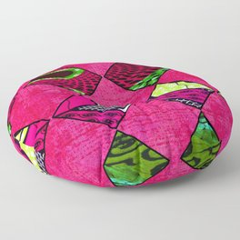 Pink and Green African Print Floor Pillow