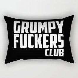 Grumpy fuckers club funny quote Rectangular Pillow