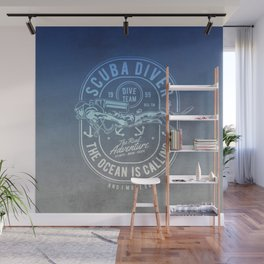 The Ocean Is Calling And I must Go Scuba Diving Wall Mural