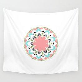 Mandala: White and Pink Wall Tapestry