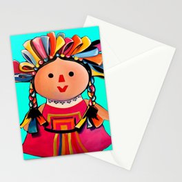 Mexican Maria Doll (turquoise) Stationery Cards