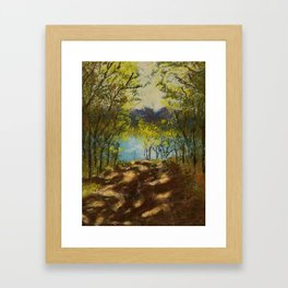 Chickies Rock Overlook Soft Pastel Painting Framed Art Print