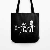 simpson Tote Bags featuring Pulp Simpson by Stationjack