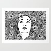 LAY WITH ME Art Print