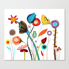 Wedding Ranunculus Bouquet Canvas Print