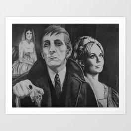 Love & Curses: The Tale of Josette, Barnabas & Angelique Art Print