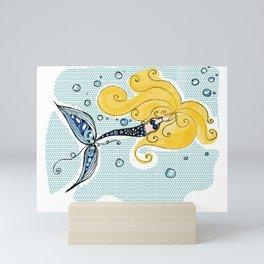 Blondie the Mermaid Mini Art Print