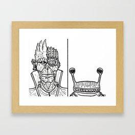 B&W Weirdos 31 Framed Art Print