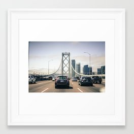 Over The Bridge And Through The Jungle To San Francisco We Go Framed Art Print