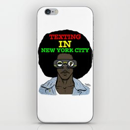 Texting In New York City iPhone Skin