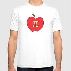 Apple Pi MEDIUM Mens Fitted Tee White