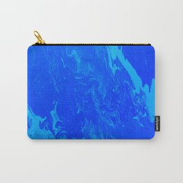 Blue Turquoise Cloud Acrylic Pour Carry-All Pouch