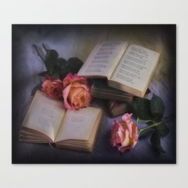 Romantic Reading Canvas Print