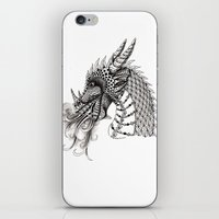 dragon iPhone & iPod Skins featuring Dragon by Elisa Camera