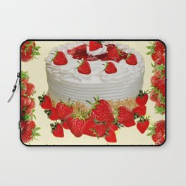 DELICIOUS STRAWBERRY  PARTY CAKE DESSERT Laptop Sleeve