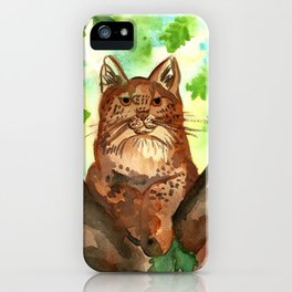 Lynx in the Forest iPhone Case