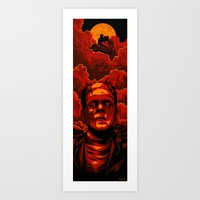 frankenstein Art Prints featuring Frankenstein by Denis O'Sullivan