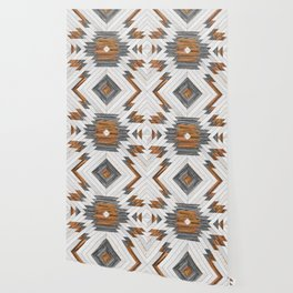 Urban Tribal Pattern 8 - Aztec - Wood Wallpaper