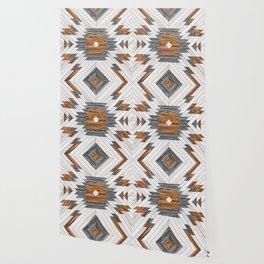 Urban Tribal Pattern No.8 - Aztec - Wood Wallpaper