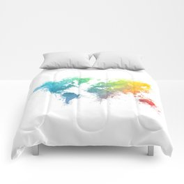 World Map splash 1 Comforters
