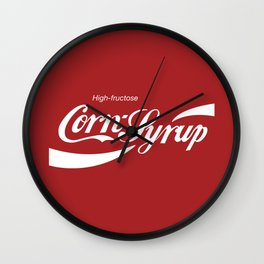 High Fructose Corn Syrup Wall Clock