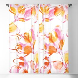 Flower Bouquets With Poppies Blackout Curtain