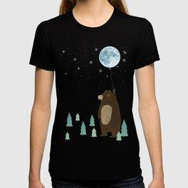 the moon balloon T-shirt
