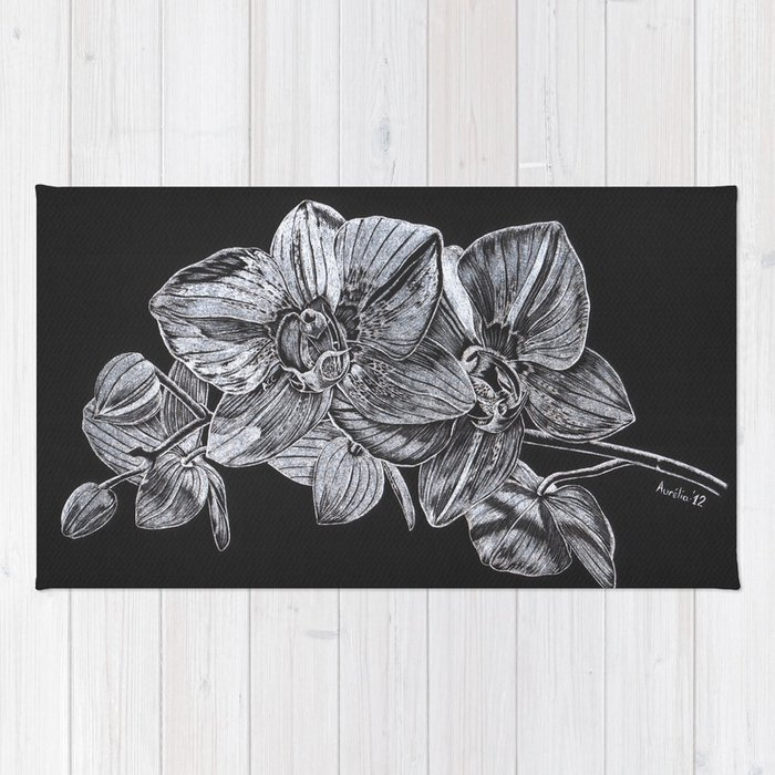 Silver Orchid Rug