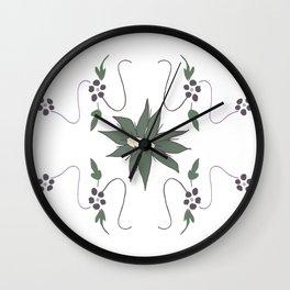 Meadow flower Wall Clock