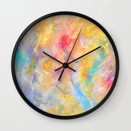 gold sky paradise Wall Clock