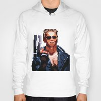 terminator Hoodies featuring Terminator Pixelated by Escobarr