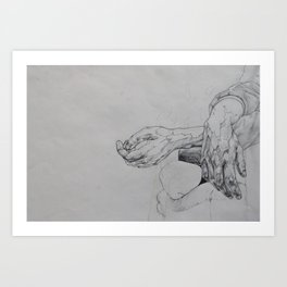 Hand Study 2 Art Print
