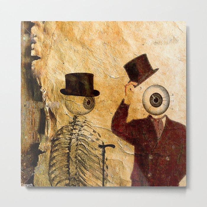 Bonjour Monsieur Bone ! Metal Print
