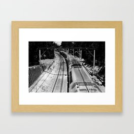 Rail Framed Art Print