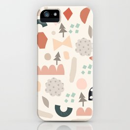 Fun Shapes Forest iPhone Case